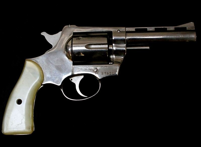 NICKEL PLATED .38 SPECIAL REVOLVER MADE IN GERMANY
