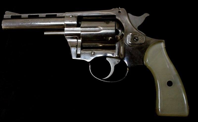 NICKEL PLATED .38 SPECIAL REVOLVER MADE IN GERMANY - 2