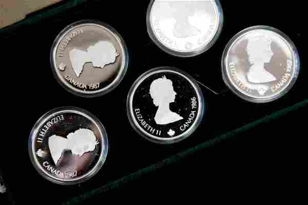 1987 CANADA WINTER OLYMPICS SILVER COIN PROOF SET