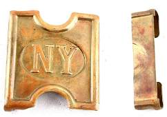 INDIAN WARS SPANAM NY MILLS BELT H BUCKLE PLATE