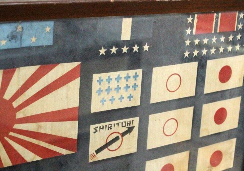 RARE WWII 1945 USS BARB SS-220 FRAMED BATTLE FLAG - 4