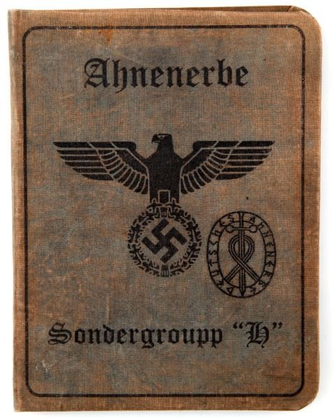 WWII GERMAN AHNENERBE SONDERGROUPP H ID PAPERS - 2