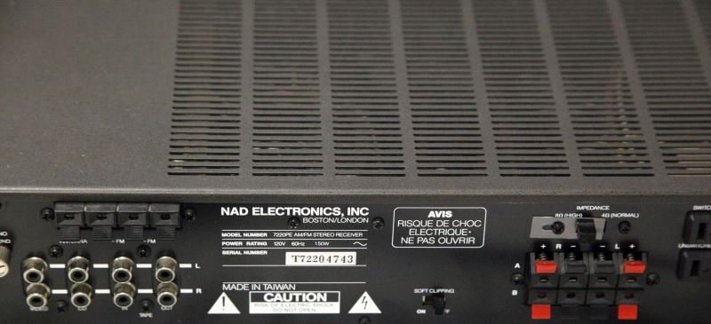 NAD 7220PE STEREO POWER AMPLIFIER/RECEIVER - 2