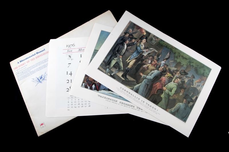 12 CURRIER & IVES BICENTENNIAL CALENDAR REPRINTS