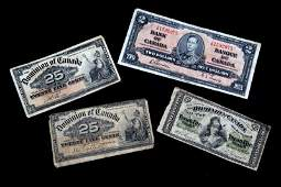 DOMINION OF CANADA FRACTIONAL CURRENCY LOT