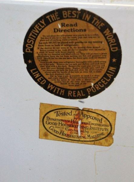 1921 LEONARD PORCELAIN LINED ICE BOX REFRIGERATOR - 4