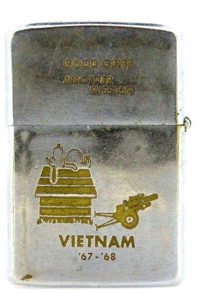 VIETNAM WAR 67-68 ZIPPO LIGHTER SNOOPY GOOD GRIEF - 2