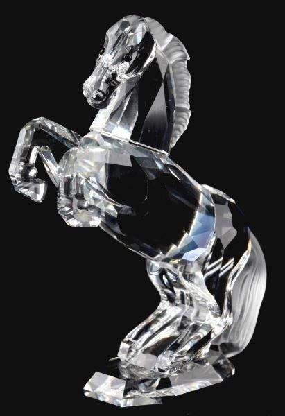 SWAROVSKI RETIRED REARING HORSE FIGURINE IN BOX
