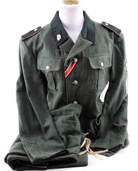 WWII GERMAN SS M1936 3RD TOTENKOPF DIV UNIFORM