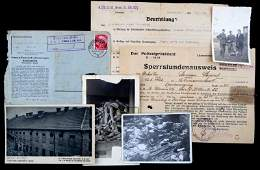 WWII THIRD REICH ORIGINAL CAMP DOCUMENTS & PHOTOS