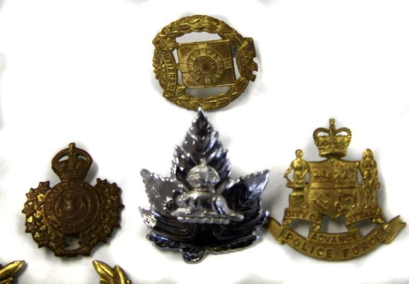 COLLECTION OF 10 CANADA POLICE CAP BADGES VARIETY - 3