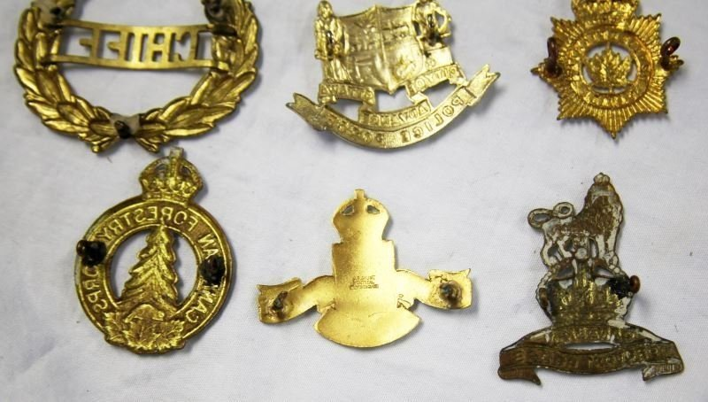 COLLECTION OF 10 CANADA POLICE CAP BADGES VARIETY - 4