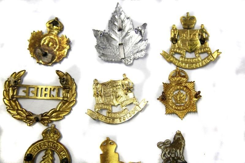 COLLECTION OF 10 CANADA POLICE CAP BADGES VARIETY - 5