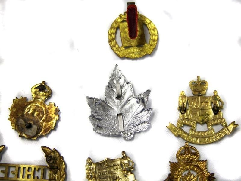 COLLECTION OF 10 CANADA POLICE CAP BADGES VARIETY - 6