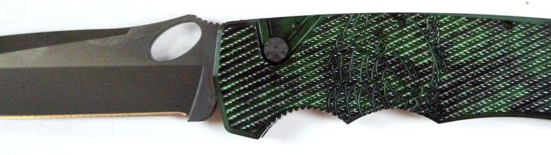 PIRANHA PREDATOR GREEN AUTOMATIC KNIFE - 3