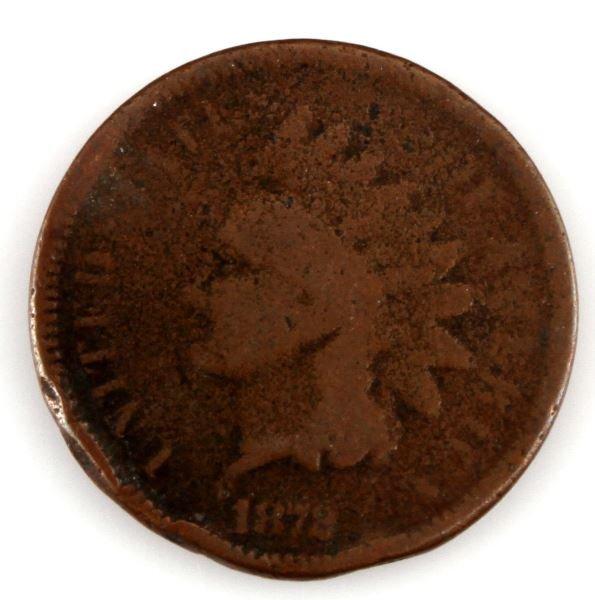 US INDIAN HEAD PENNY 1872 AG COIN
