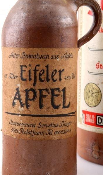 ANTIQUE GERMAN CLAY ALCOHOL BOTTLES SCHLICHTE RUM - 3