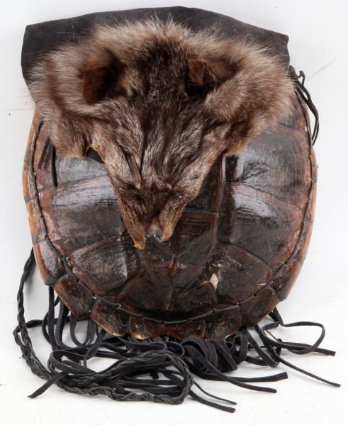 NATIVE AMERICAN TURTLE SHELL MEDICINE BAG