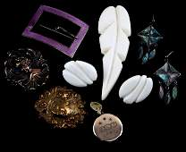 MIXED VINTAGE BROOCH COSTUME JEWELRY LOT
