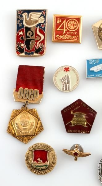 LOT OF 22 VARIOUS RUSSIAN & SOVIET UNION PINS - 4