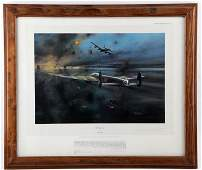 THE DAMBUSTERS PRINT SIGNED BY AIR MARSHAL  MARTIN