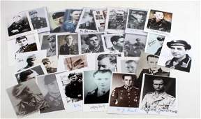 34 HAND SIGNED WWII THIRD REICH GERMAN PHOTOGRAPHS