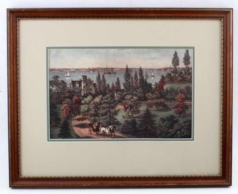 IDYLLIC VIEW OF NY FROM LONG ISLAND PRINT BY PALME