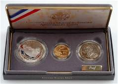 MT. RUSHMORE 3 COIN SILVER & GOLD PROOF SET