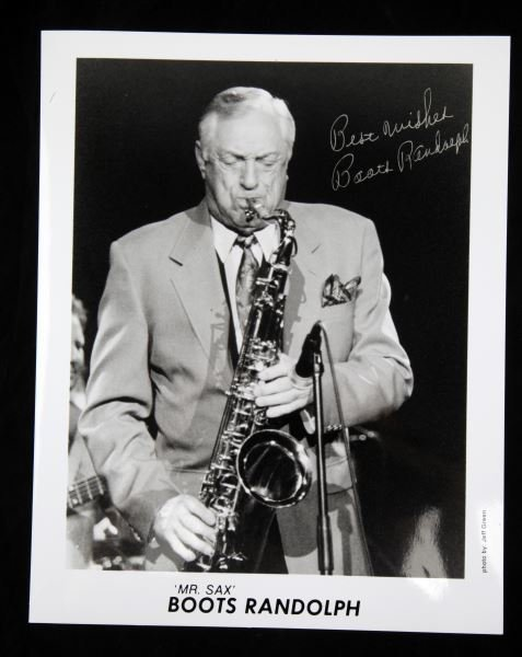 "AUTOGRAPHED PHOTO OF ""MR SAX"" BOOTS RANDOLPH"