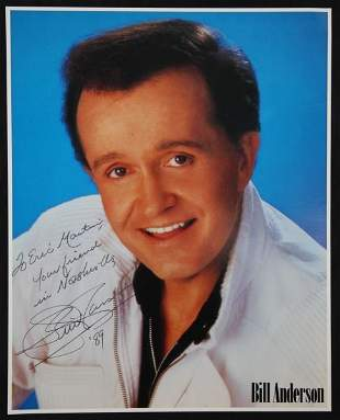 AUTOGRAPHED PHOTOCOPY OF WHISPERIN' BILL ANDERSON