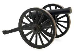 MADE IN USA ANTIQUE TOY CANNON 3.5 INCHES TALL