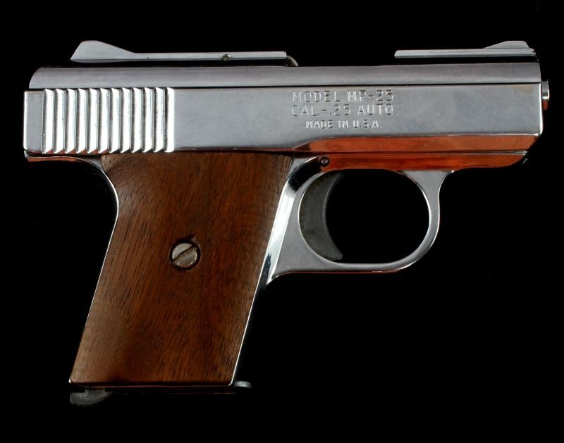 RAVEN ARMS MP 25 AUTOMATIC PISTOL .25 CAL NICKEL