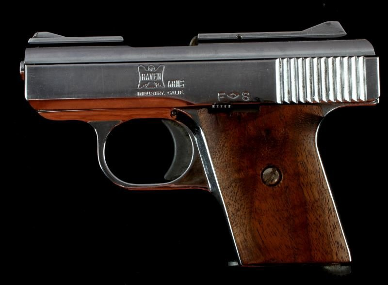 RAVEN ARMS MP 25 AUTOMATIC PISTOL .25 CAL NICKEL - 2