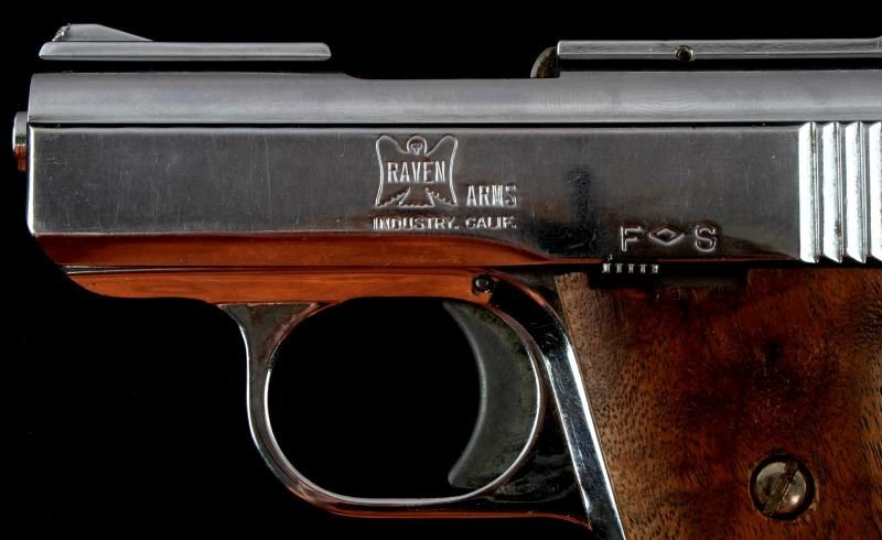 RAVEN ARMS MP 25 AUTOMATIC PISTOL .25 CAL NICKEL - 3