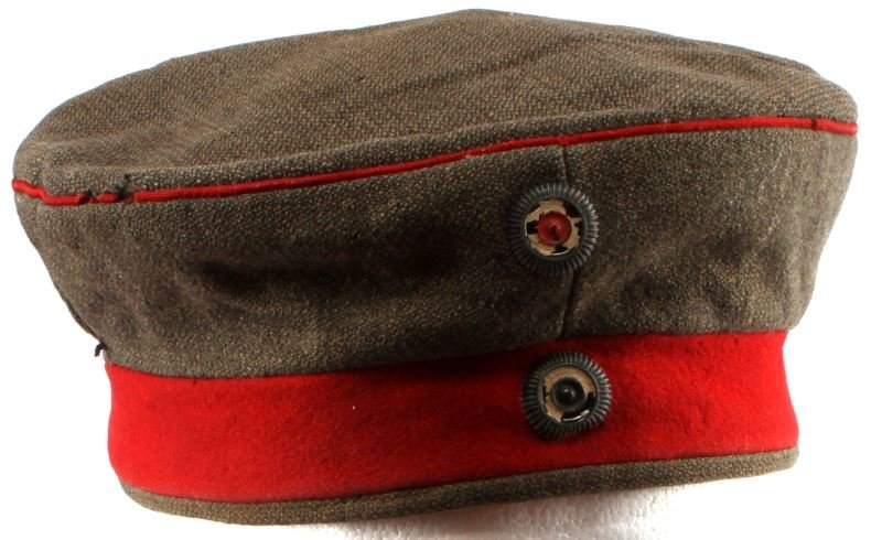 WWI IMPERIAL GERMAN M1907 FELDMUTZE WOOL CAP HAT