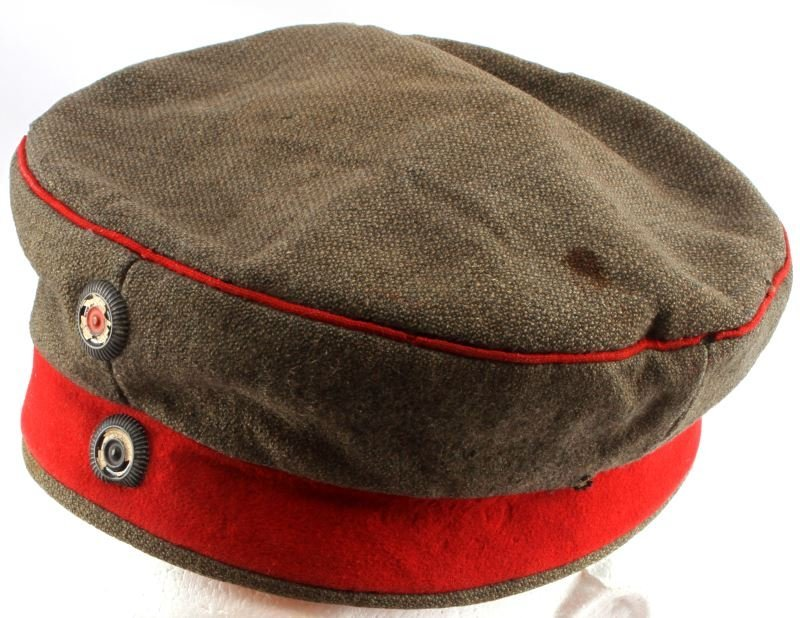 WWI IMPERIAL GERMAN M1907 FELDMUTZE WOOL CAP HAT - 2