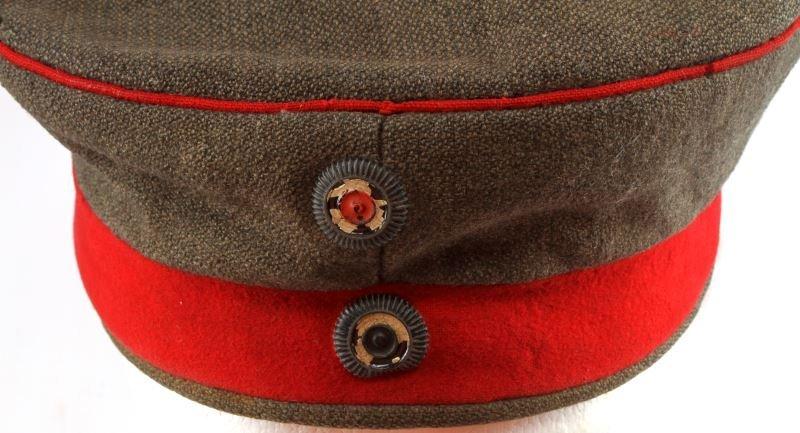 WWI IMPERIAL GERMAN M1907 FELDMUTZE WOOL CAP HAT - 3