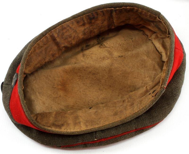 WWI IMPERIAL GERMAN M1907 FELDMUTZE WOOL CAP HAT - 5