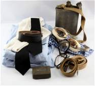 WWII US MILITARY MIXED LOT GOGGLES BELTS AIR FORCE