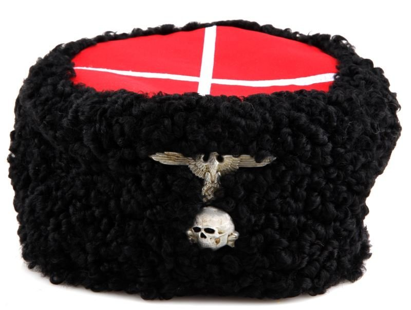 WWII GERMAN SS RUSSIAN DON COSSACK PAPAKHA HAT