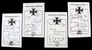 WWII GERMAN KIGHTS CROSS WINNERS AUTOGRAPH SHEET