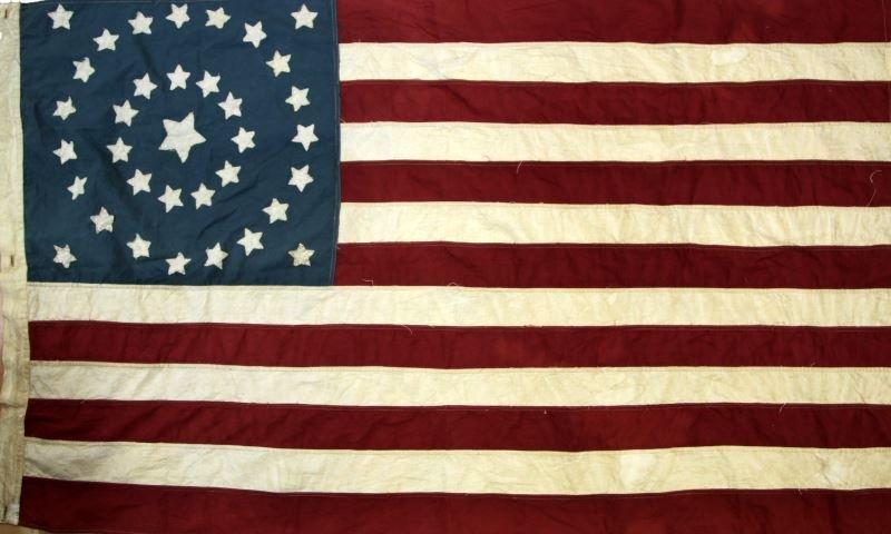 CIVIL WAR 35 STAR UNION FLAG 1864 TO 1865