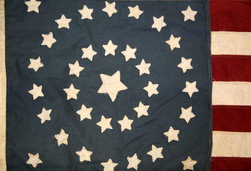 CIVIL WAR 35 STAR UNION FLAG 1864 TO 1865 - 2