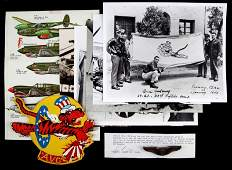 WWII ACE BRUCE K HOLLOWAY LOT W STERLING WINGS