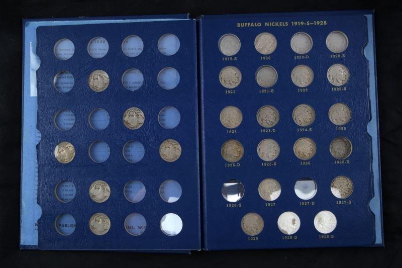 WHITMAN COIN BOOK BUFFALO NICKEL SHORT SET