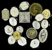 SMALL LOT 18 VINTAGE LADIES WATCH MOVEMENTS