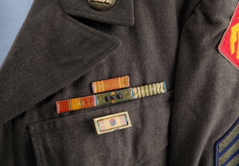 KOREAN WAR 45TH INFANTRY 1ST CLASS SERGEANT JACKET - 2