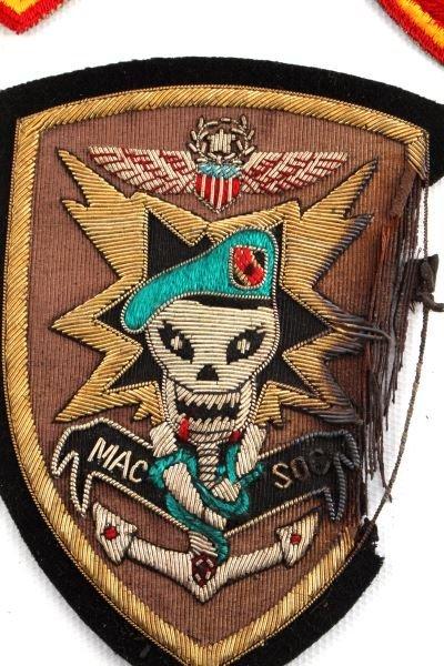 VIETNAM ERA BULLION MAC V SOG PATCH & USMC PATCHES - 2