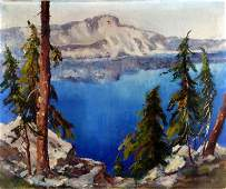 COLORADO OIL PAINTING ON CANVAS OLIVE H CHAFFEE
