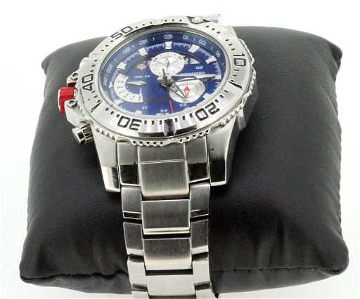 mens steel redline watch 316l chronograph